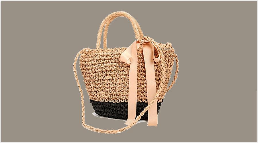 bolsos de playa de mimbre